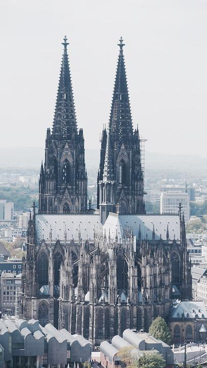View of Cologne and its cathedral