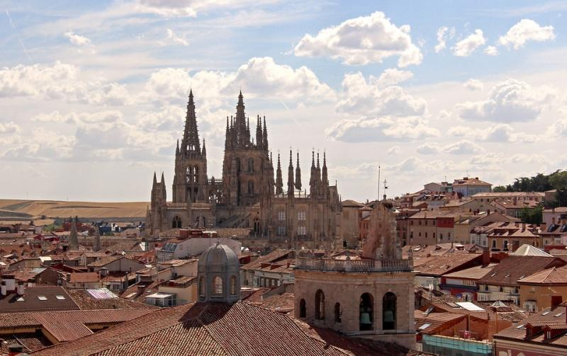 View of Burgos and its cathedral