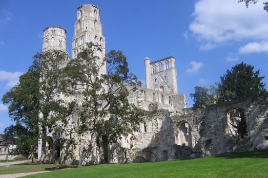 Ancienne abbaye de Jumièges - ensemble Notre-Dame et Saint-Pierre